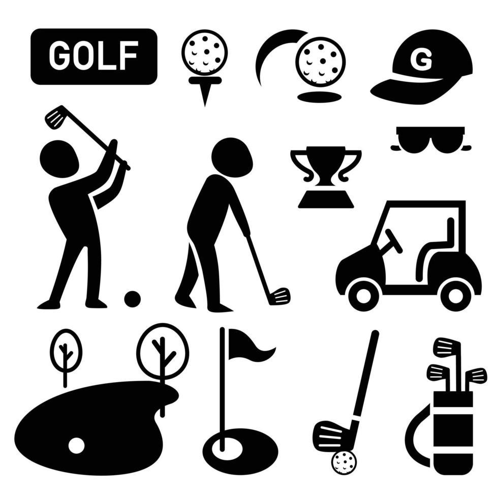 ilustração de ícone de golfe isolado vetor