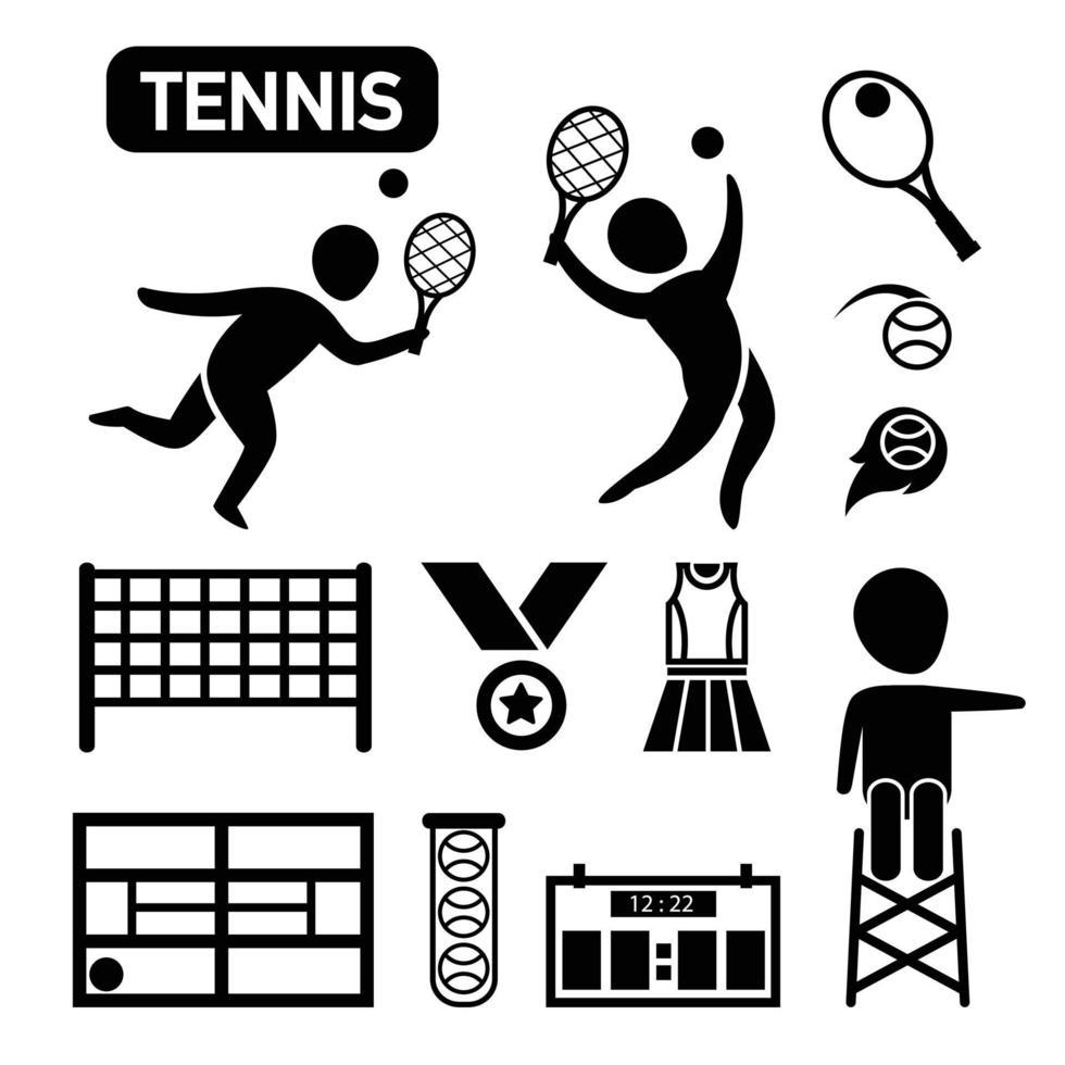 ícone de tênis isolado vetor