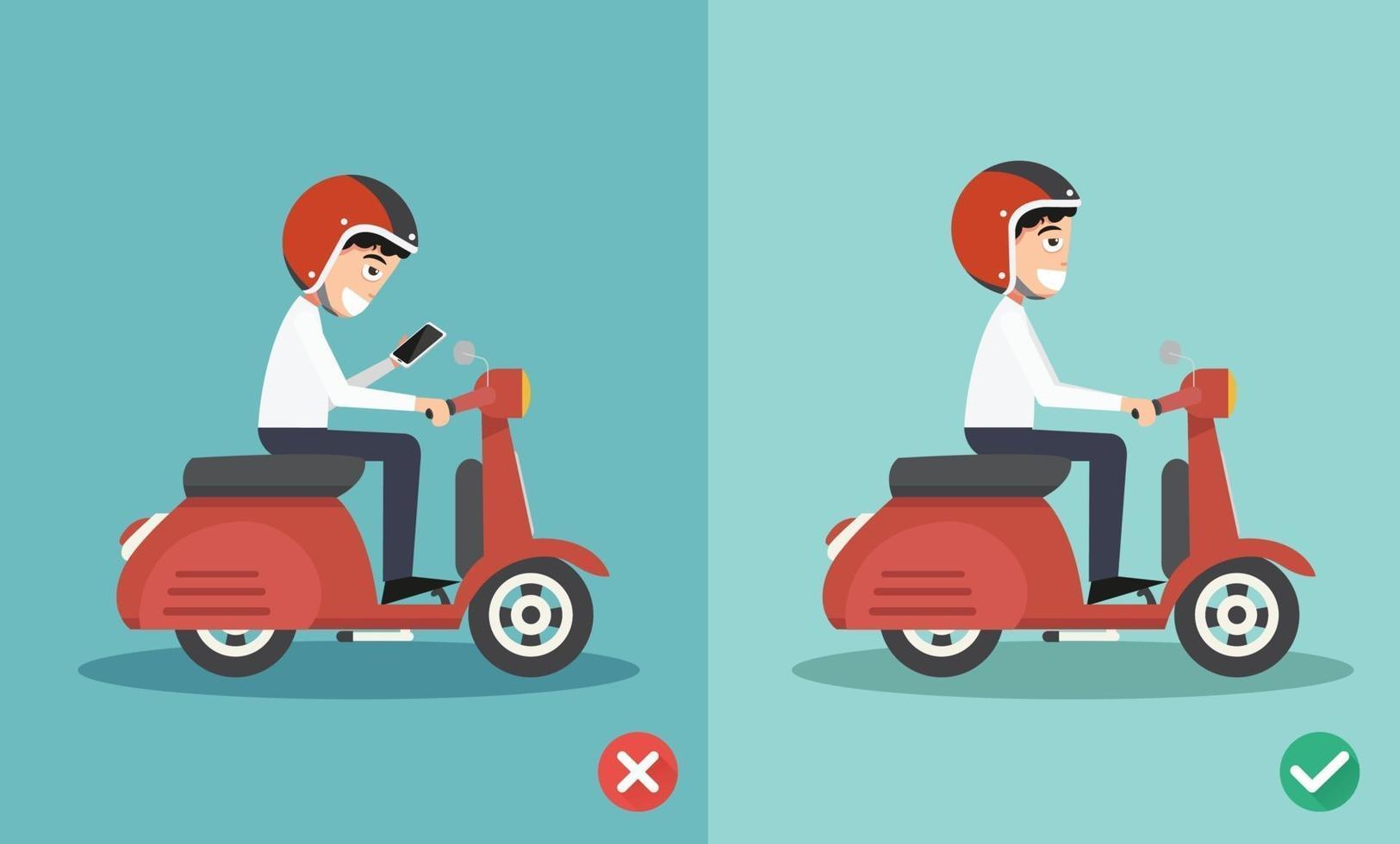 sem mensagens de texto, sem falar, caminhos certos e errados vetor