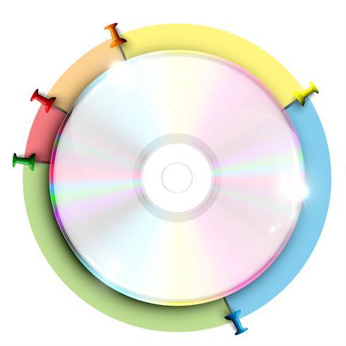 CD / DVD, infográfico, vetor