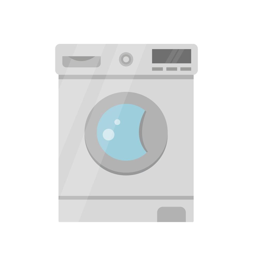 máquina de lavar a cores. isolado em um branco vetor
