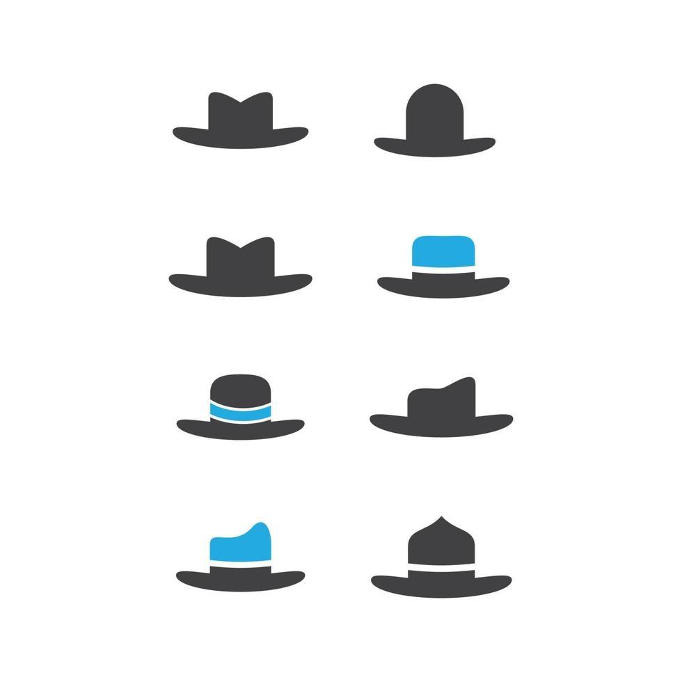 ilustração das imagens do logotipo do chapéu coboy vetor