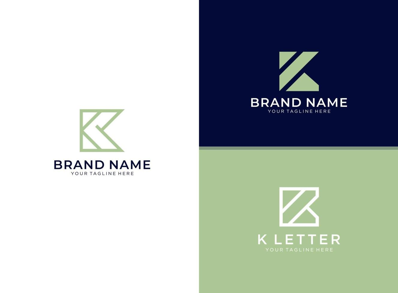 conjunto de modelo de logotipo k inititals simples e limpo vetor