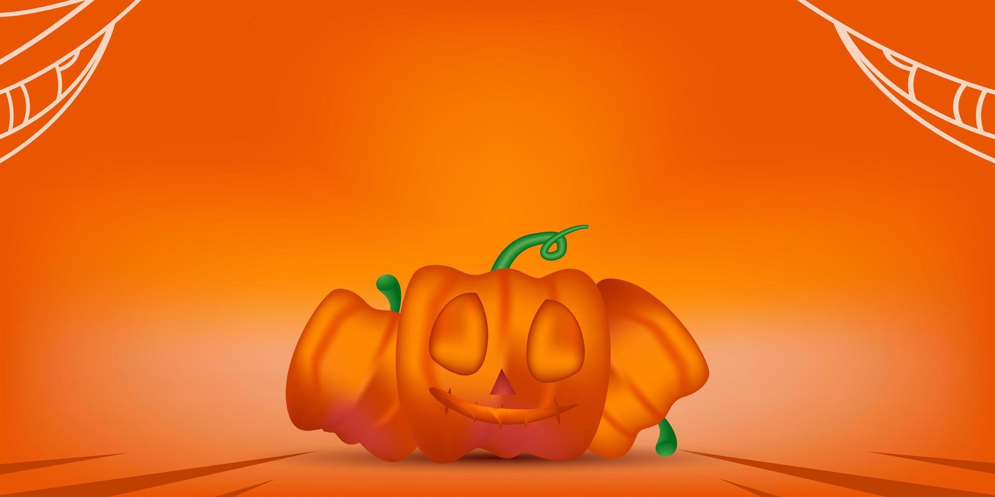 modelo de banner em branco desenho de fundo de halloween vetor