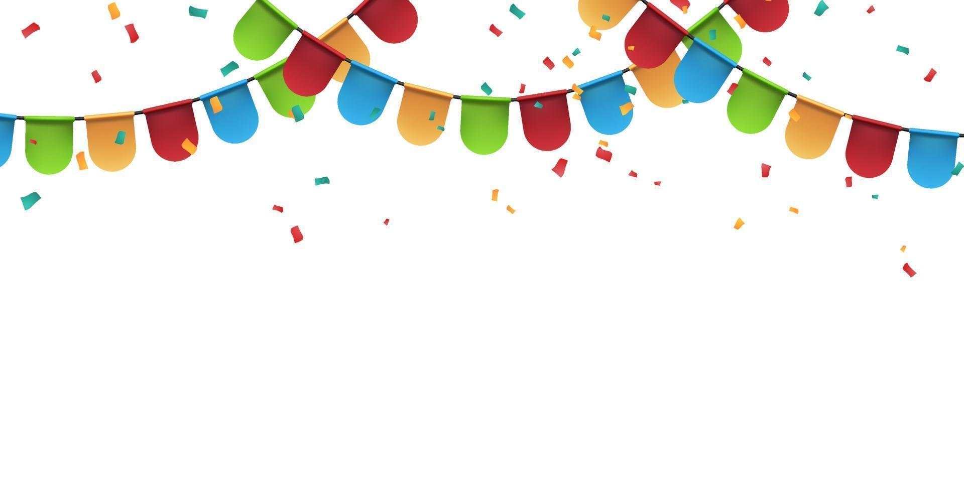 bandeira modelo de design de conceito colorido feriado feliz dia, vetor