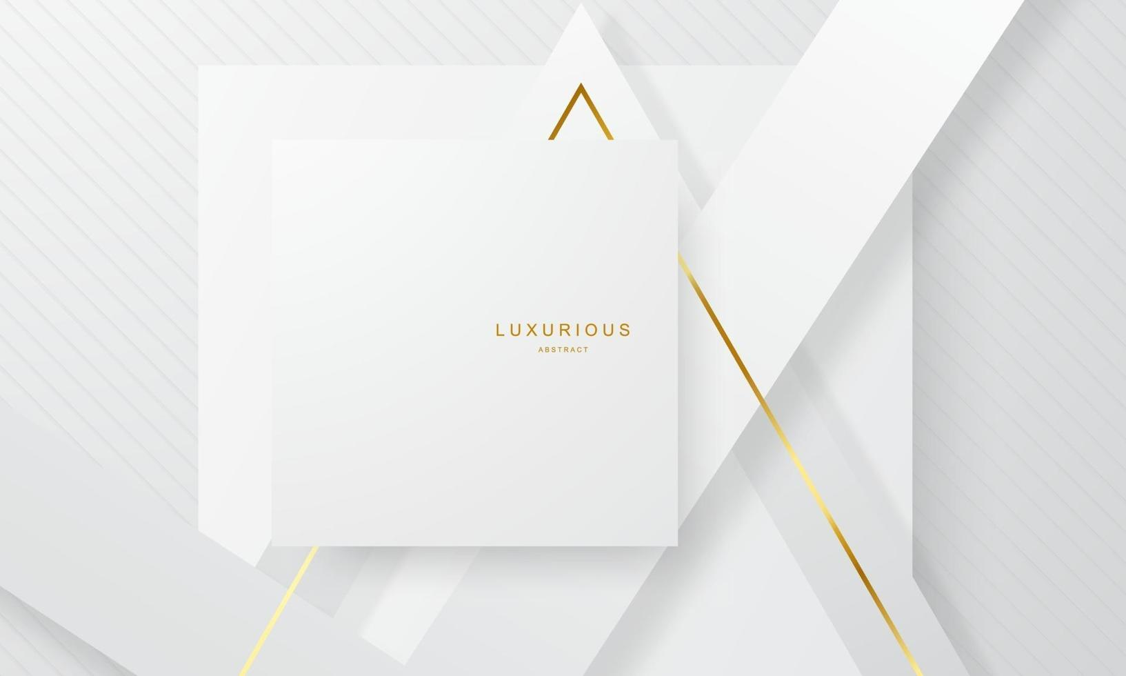 pôster abstrato de ouro branco vetor