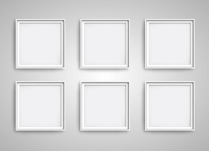 Quadros realistas brancos, ilustração vetorial vetor