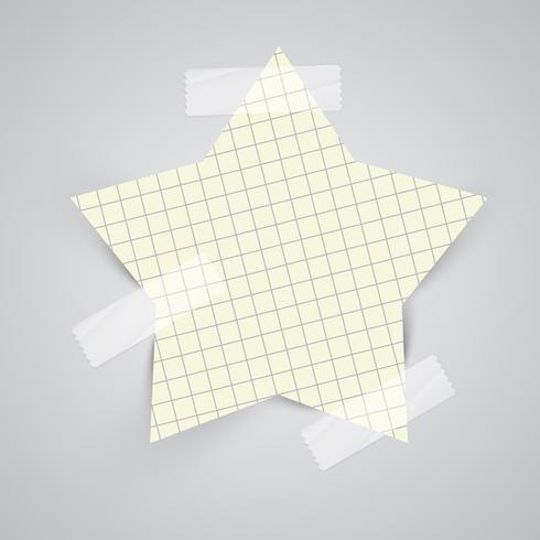 Notas de papel com fita adesiva, vetor