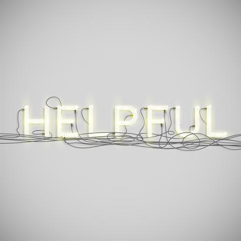 Tipo de palavra elétrica de néon, ilustração vetorial vetor