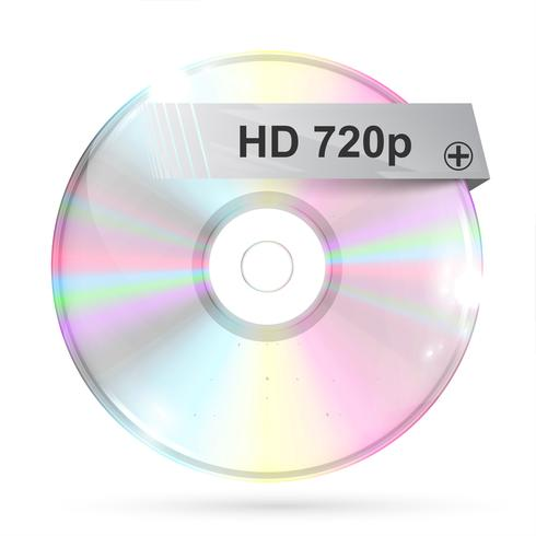 CD / DVD no fundo branco, ilustração vetorial vetor