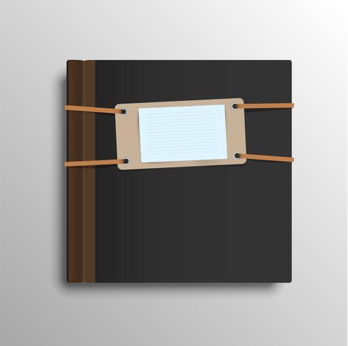 Caderno realista, ilustração vetorial vetor
