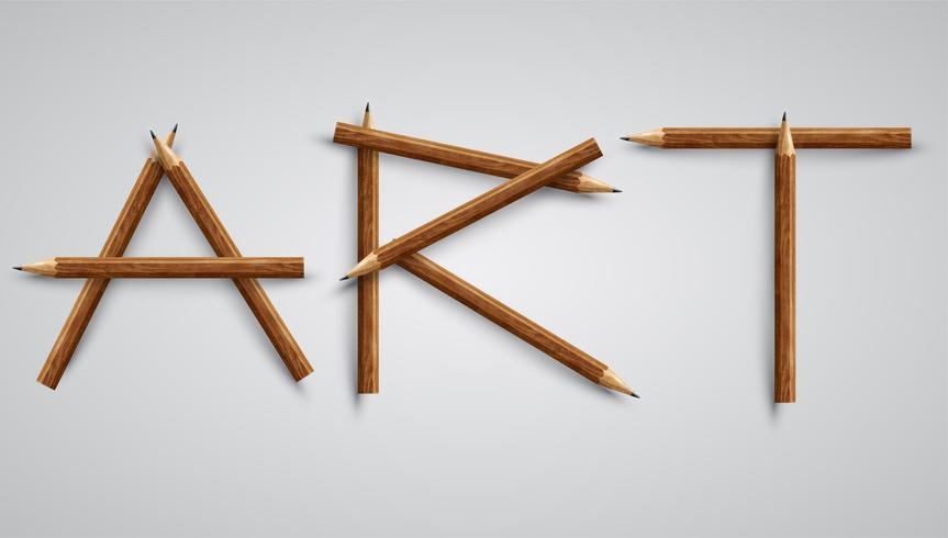 Arte feita por lápis, vetor