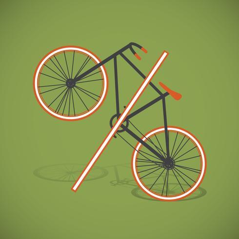 Ilustração de bicicleta por cento, vetor
