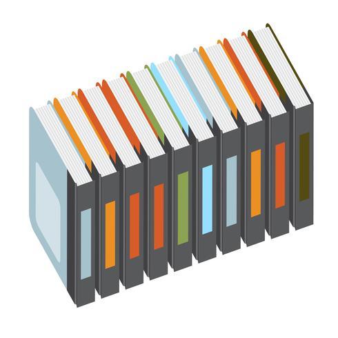Livros coloridos, vetor