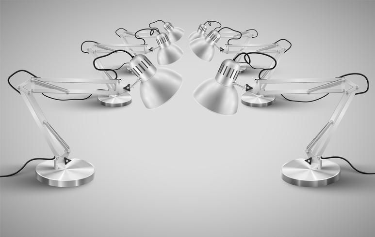 Realistic metal candeeiros de mesa, vetor