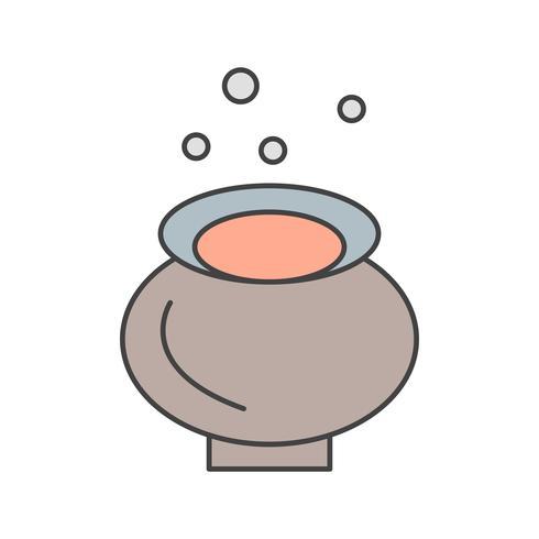 ícone de caldeirão de vetor