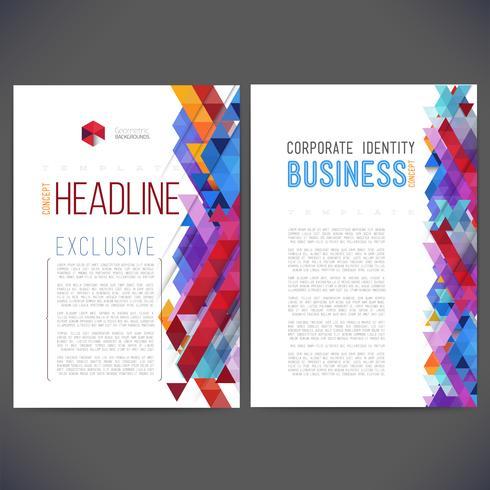 Modelo de design de vetor abstrato, brochura