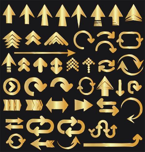 coleção de seta vetor