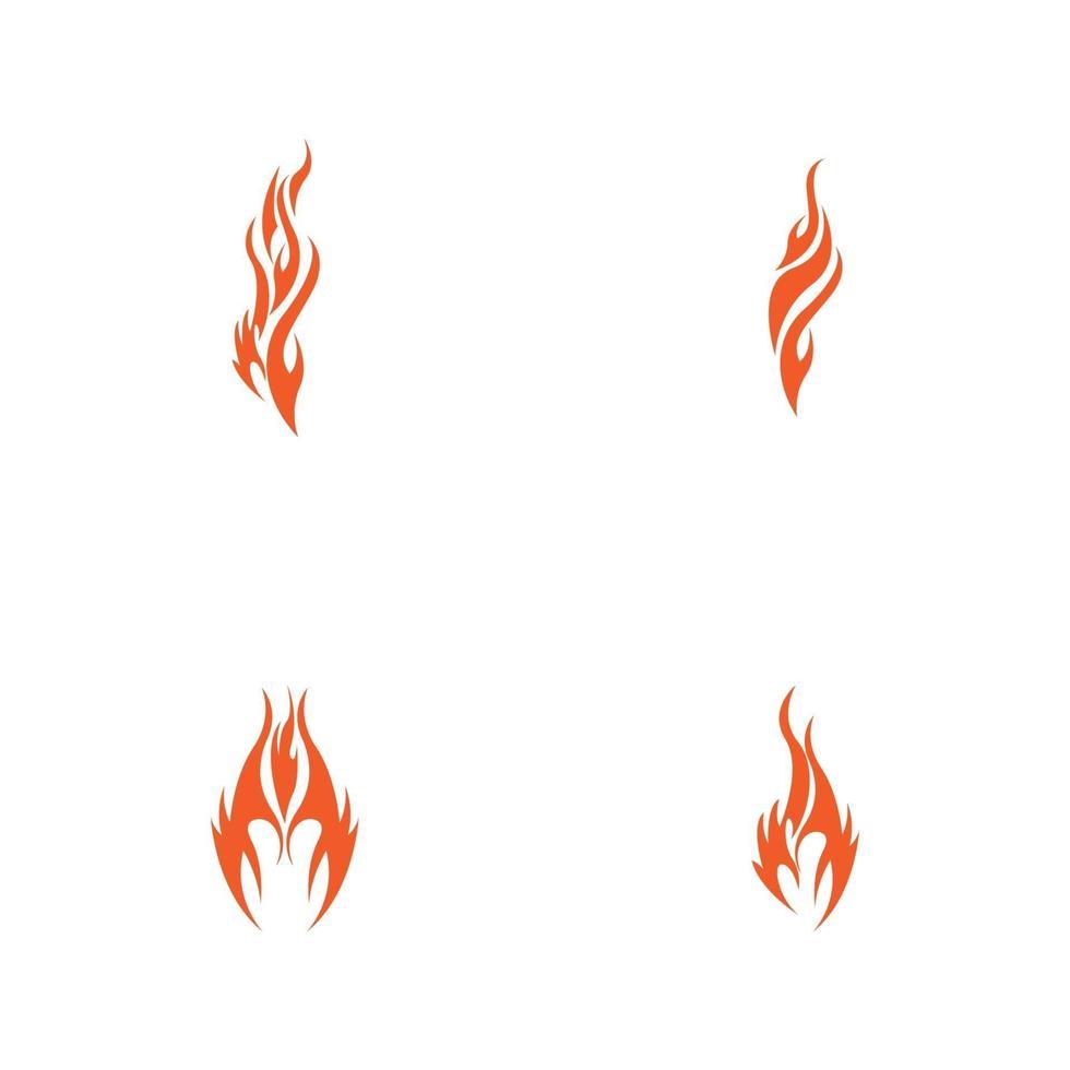 modelo de design de ilustração vetorial de chama de fogo vetor