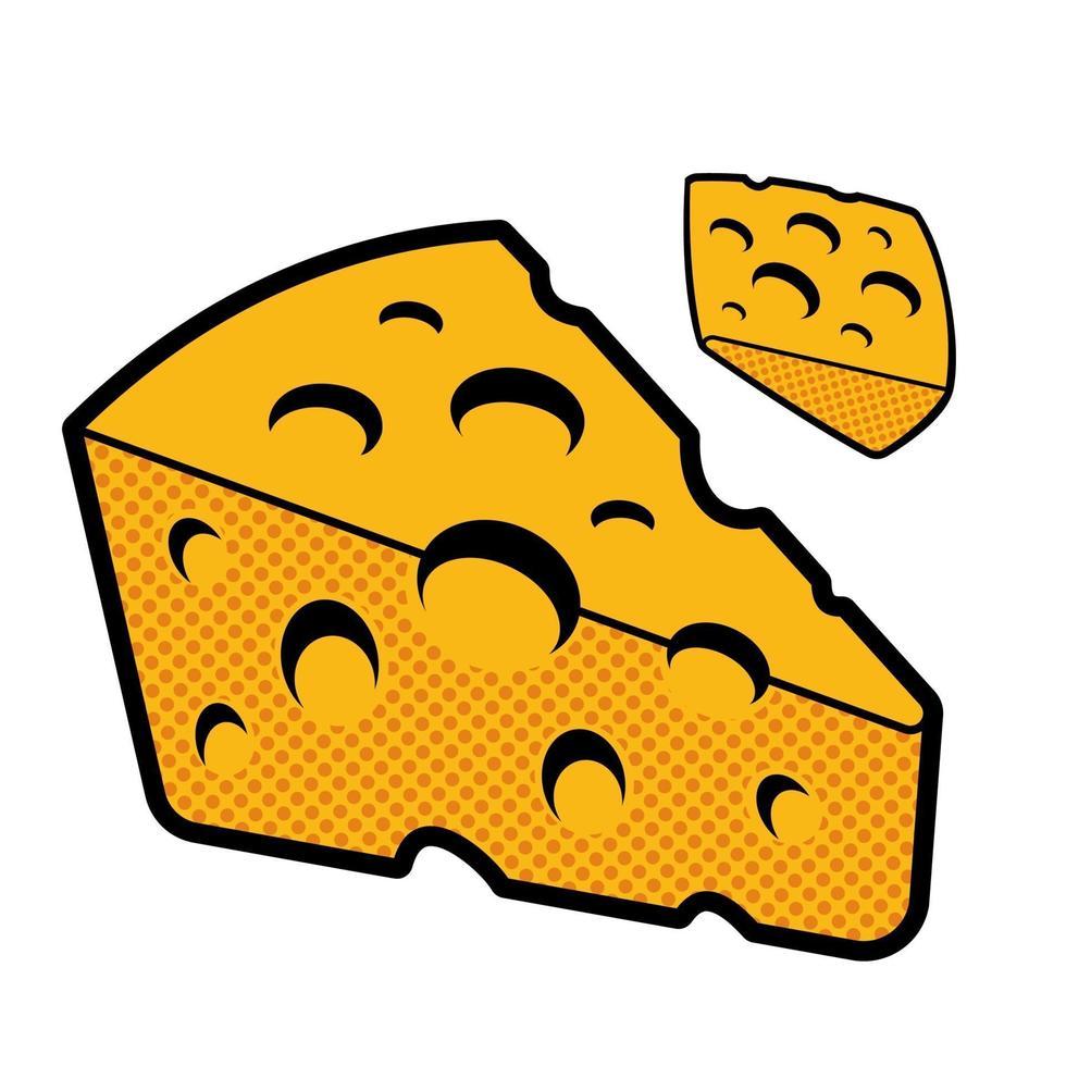 uma ilustração em vetor de queijo