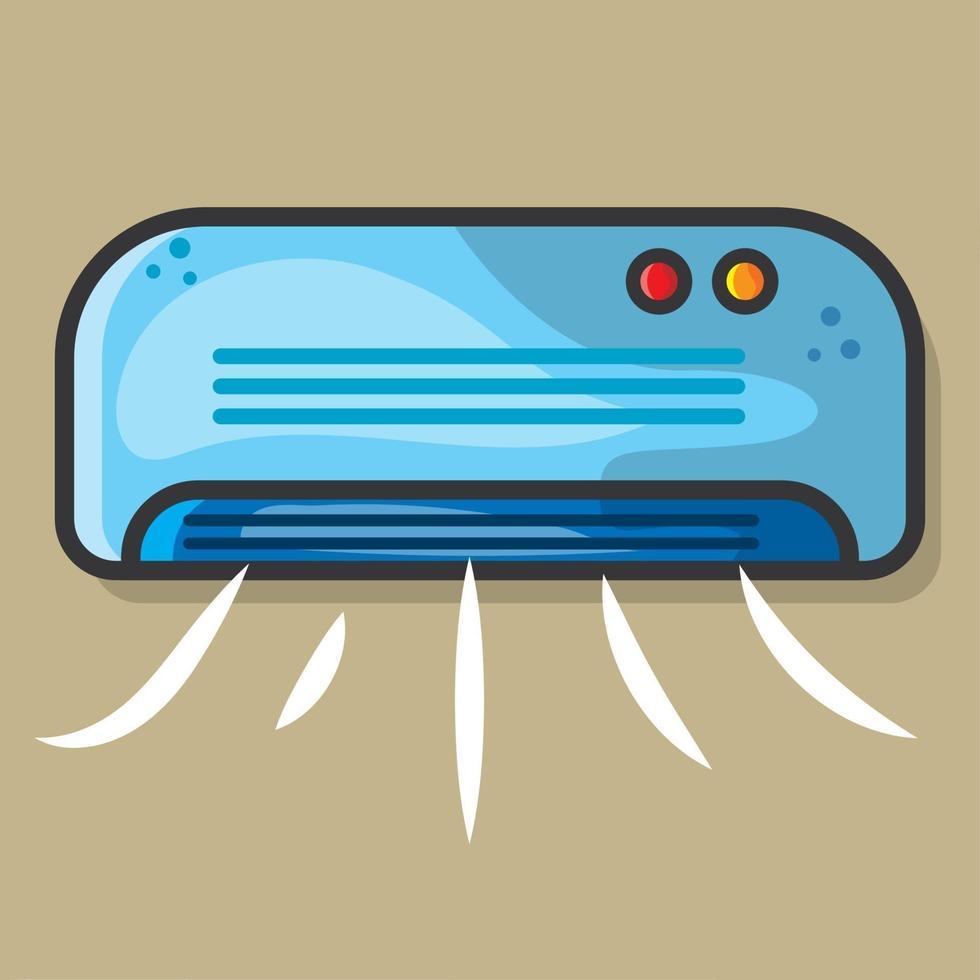 ilustração eletrônica do condicionador de ar em estilo simples vetor