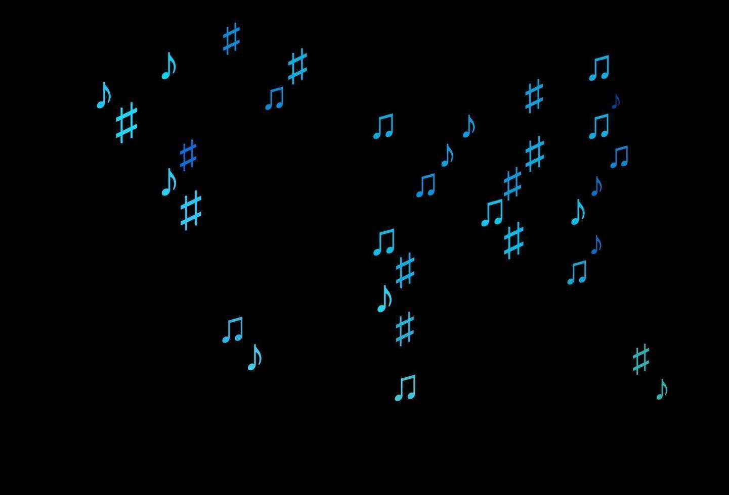 padrão de vetor azul e verde escuro com elementos musicais.