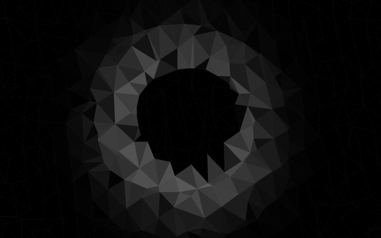 layout poligonal abstrato de vetor cinza claro prata.