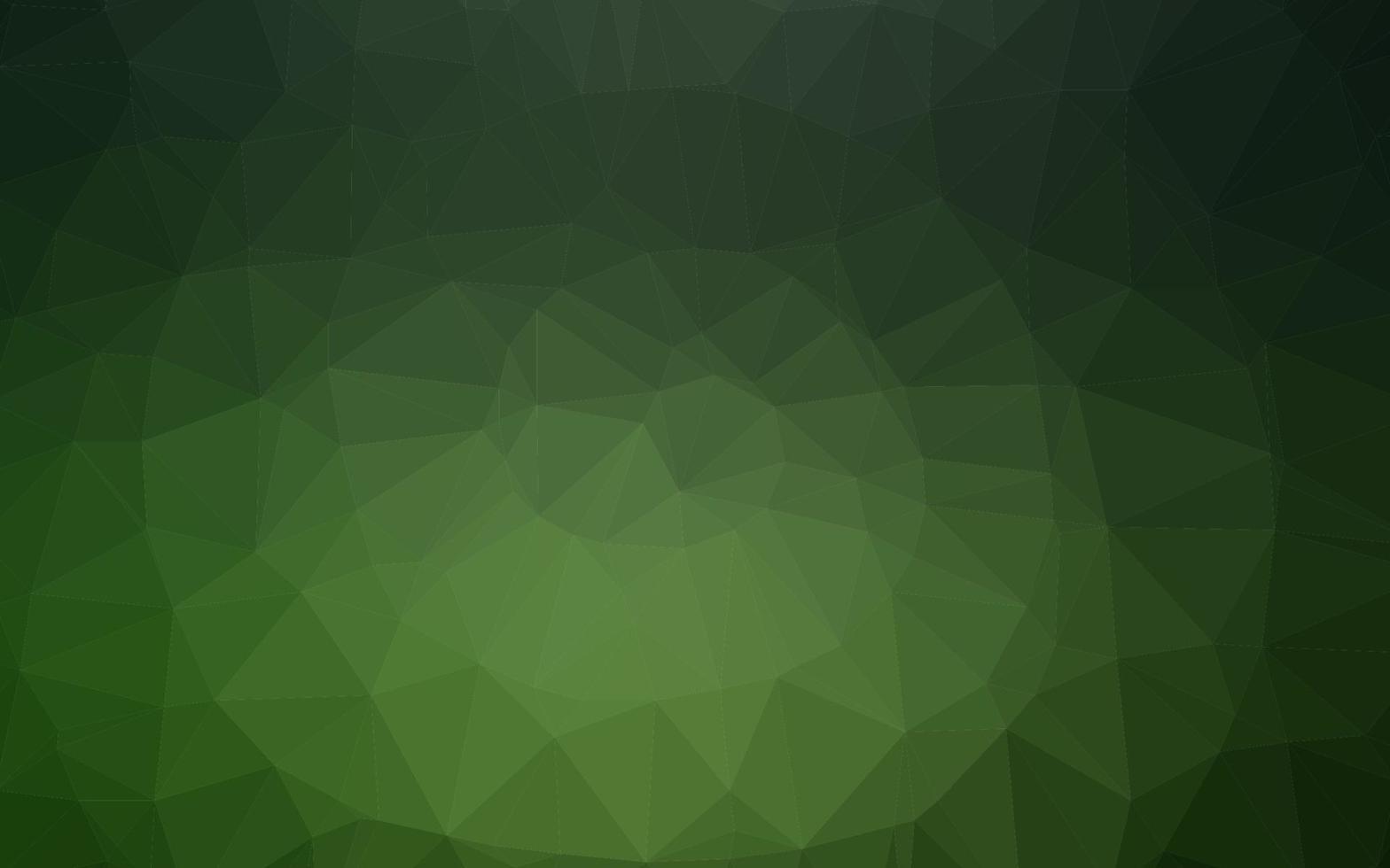 textura poligonal abstrata de vetor verde escuro.