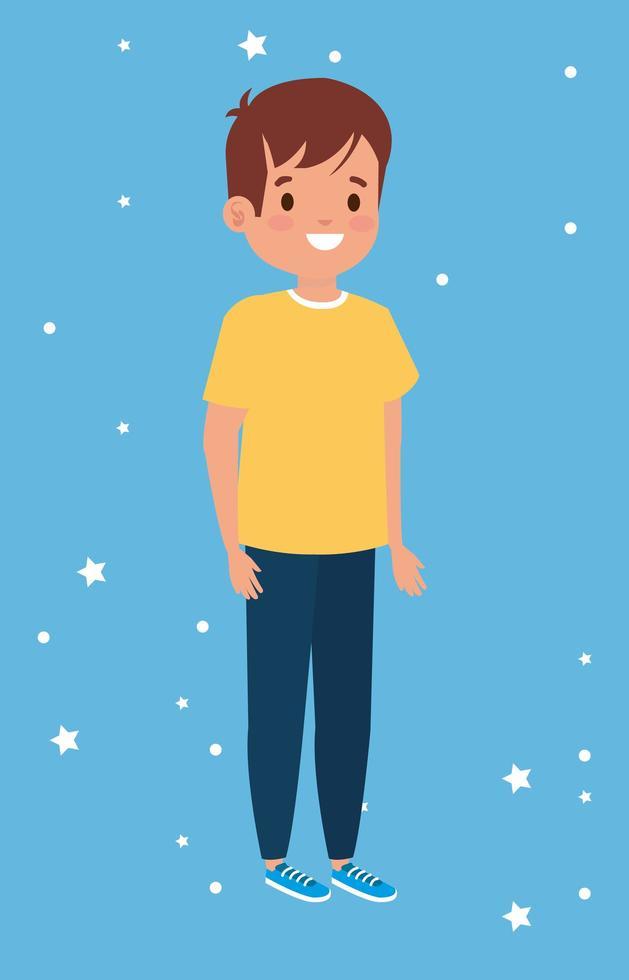 personagem de avatar de menino fofo vetor
