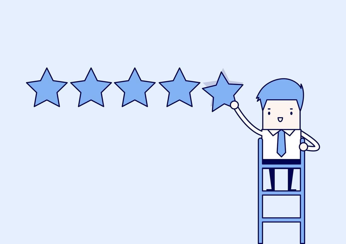 empresário dando cinco estrelas. vetor