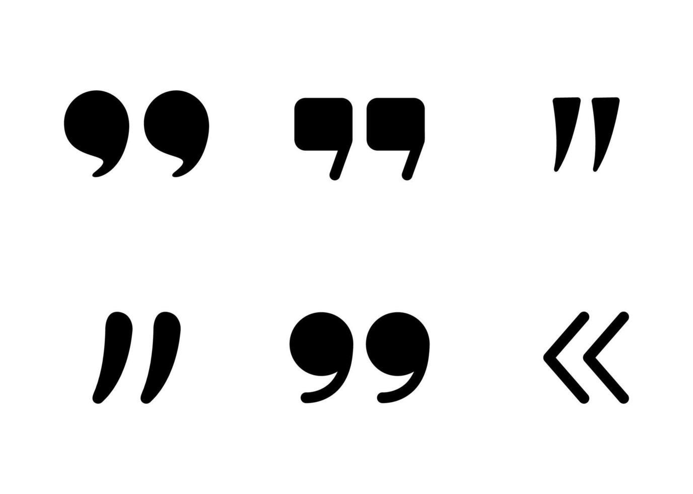 ícone de citações definido - ilustração vetorial. vetor