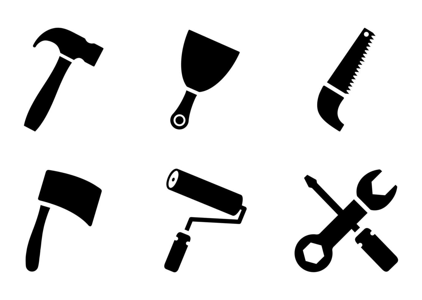 conjunto de ícones de ferramentas - ilustração vetorial. vetor