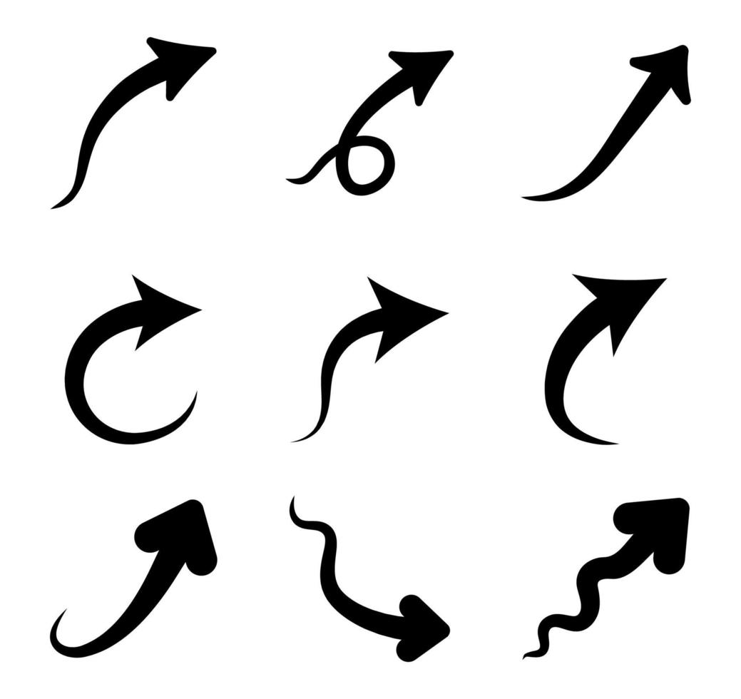 conjunto de ícones de seta - ilustração vetorial. vetor