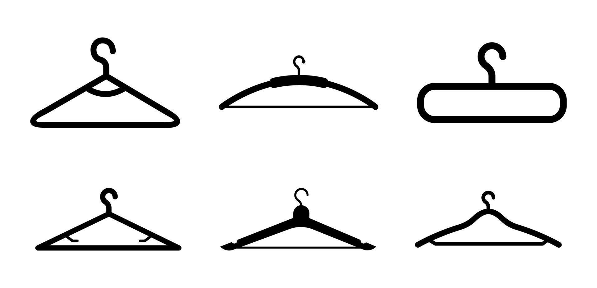 conjunto de ícones de cabide - ilustração vetorial. vetor