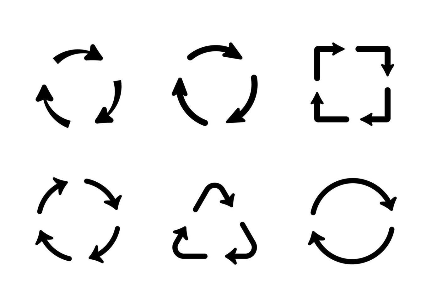 reciclagem conjunto de ícones - ilustração vetorial. vetor