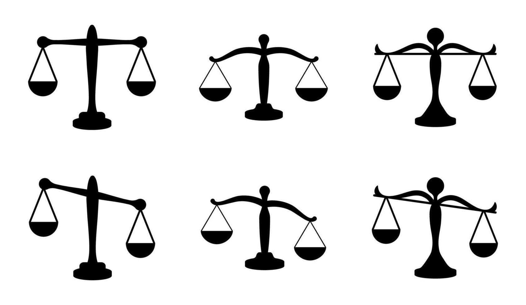 conjunto de ícones de escala - ilustração vetorial. vetor