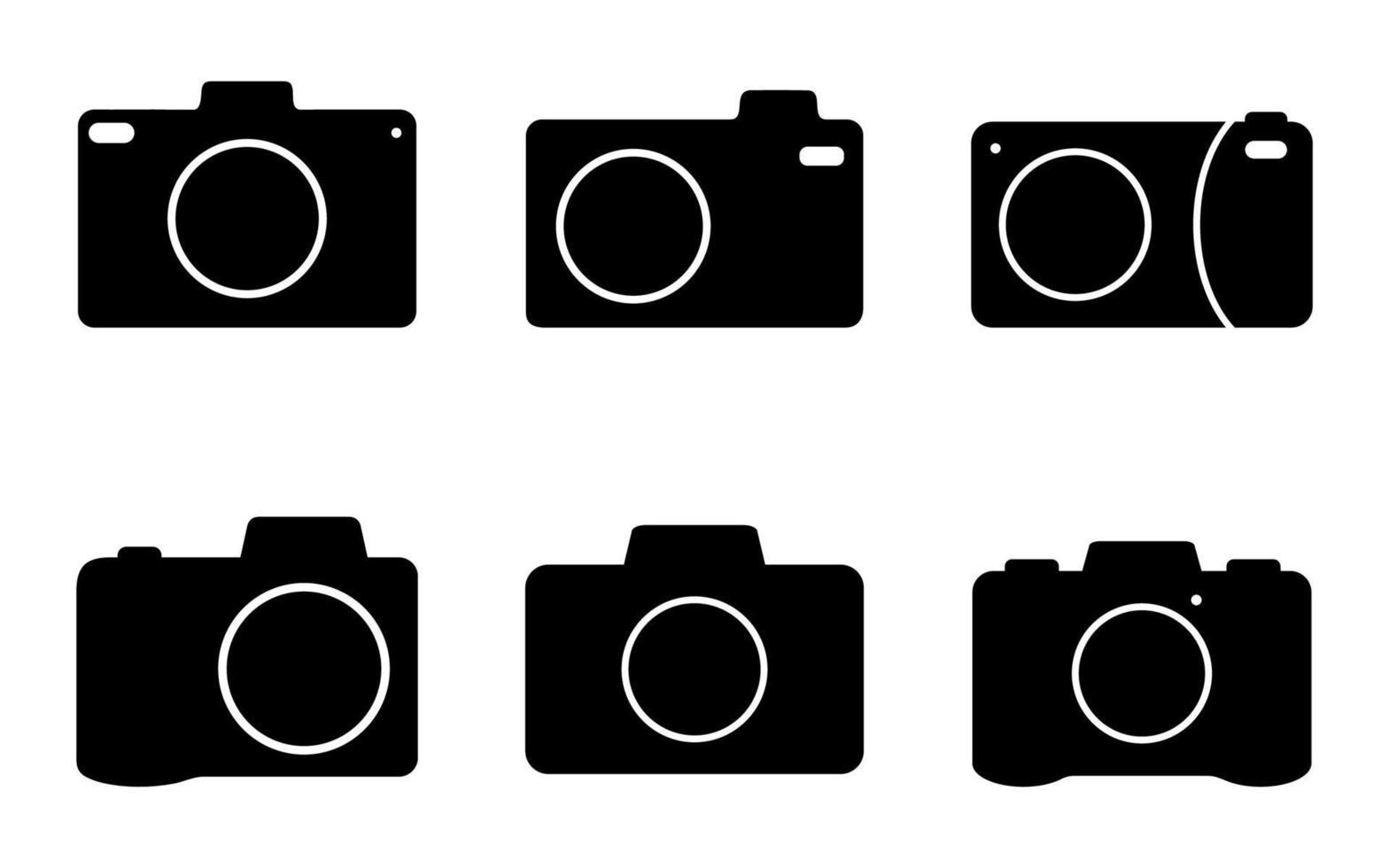 conjunto de ícones da câmera - ilustração vetorial. vetor