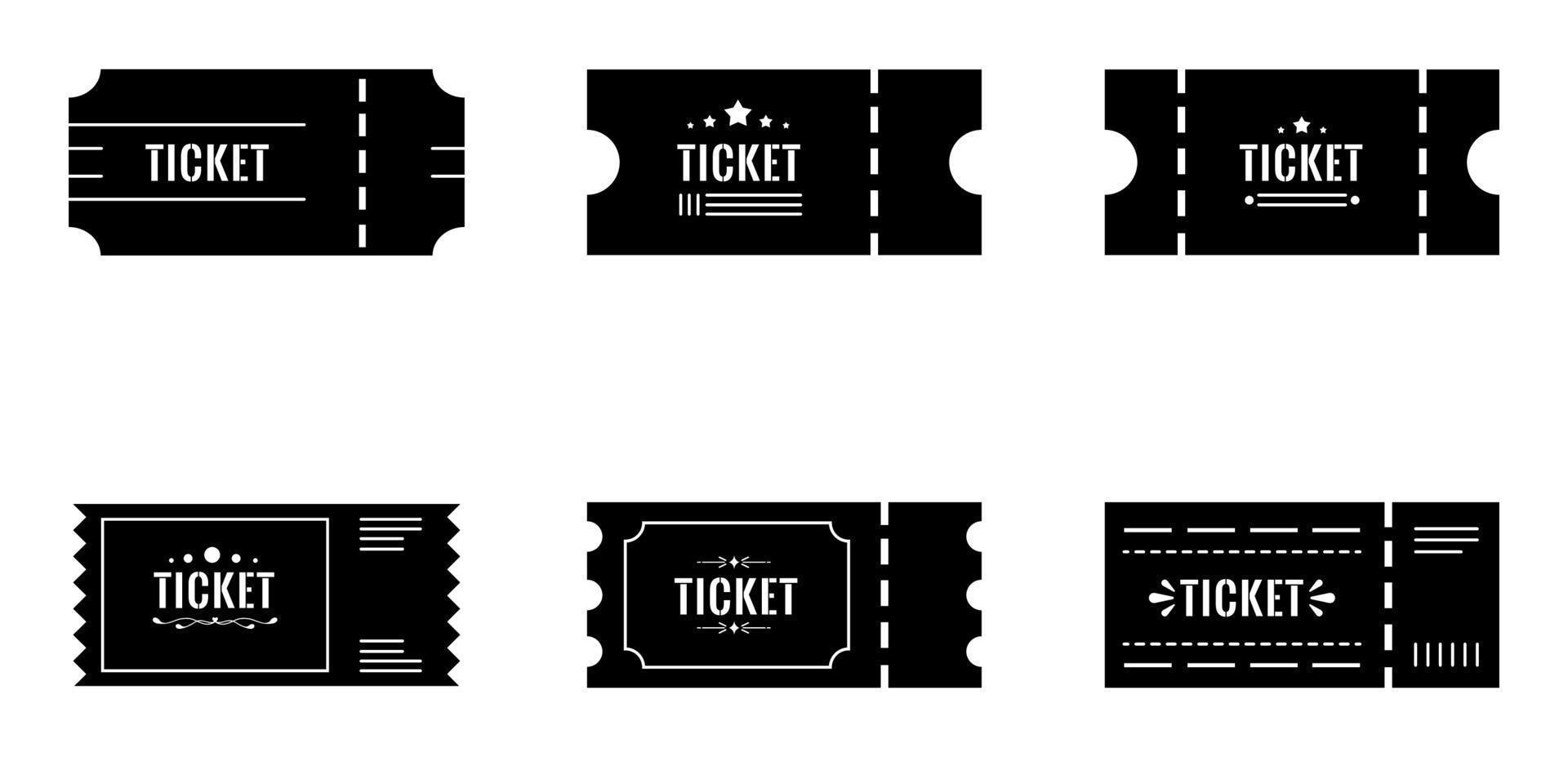 conjunto de ícones de ingressos - ilustração vetorial. vetor