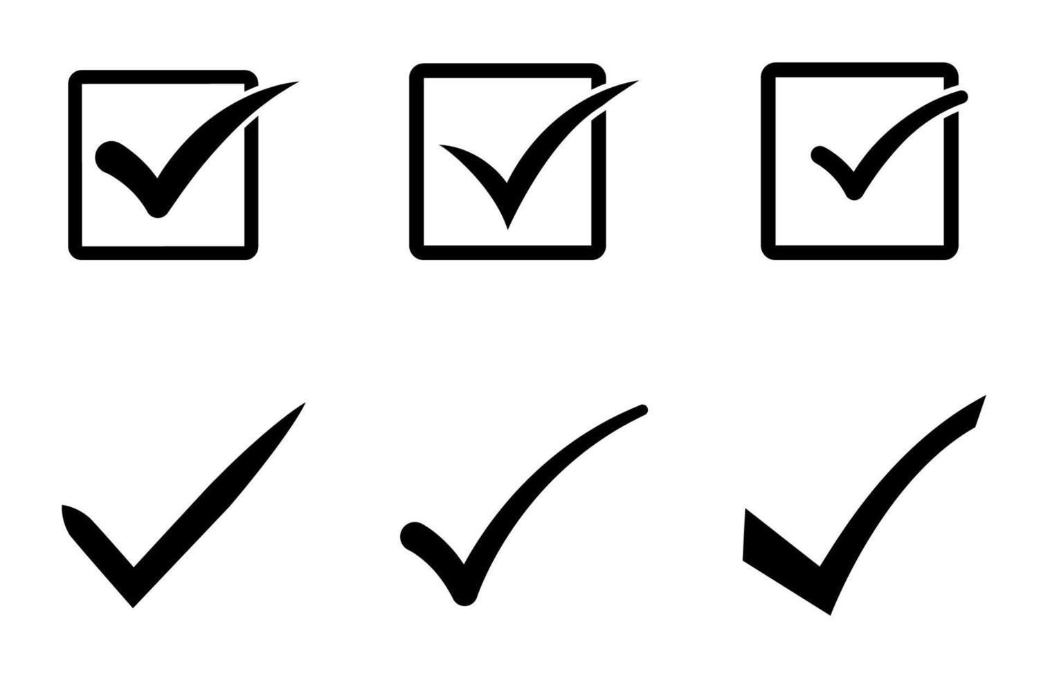 verifique o conjunto de ícones - ilustração vetorial. vetor