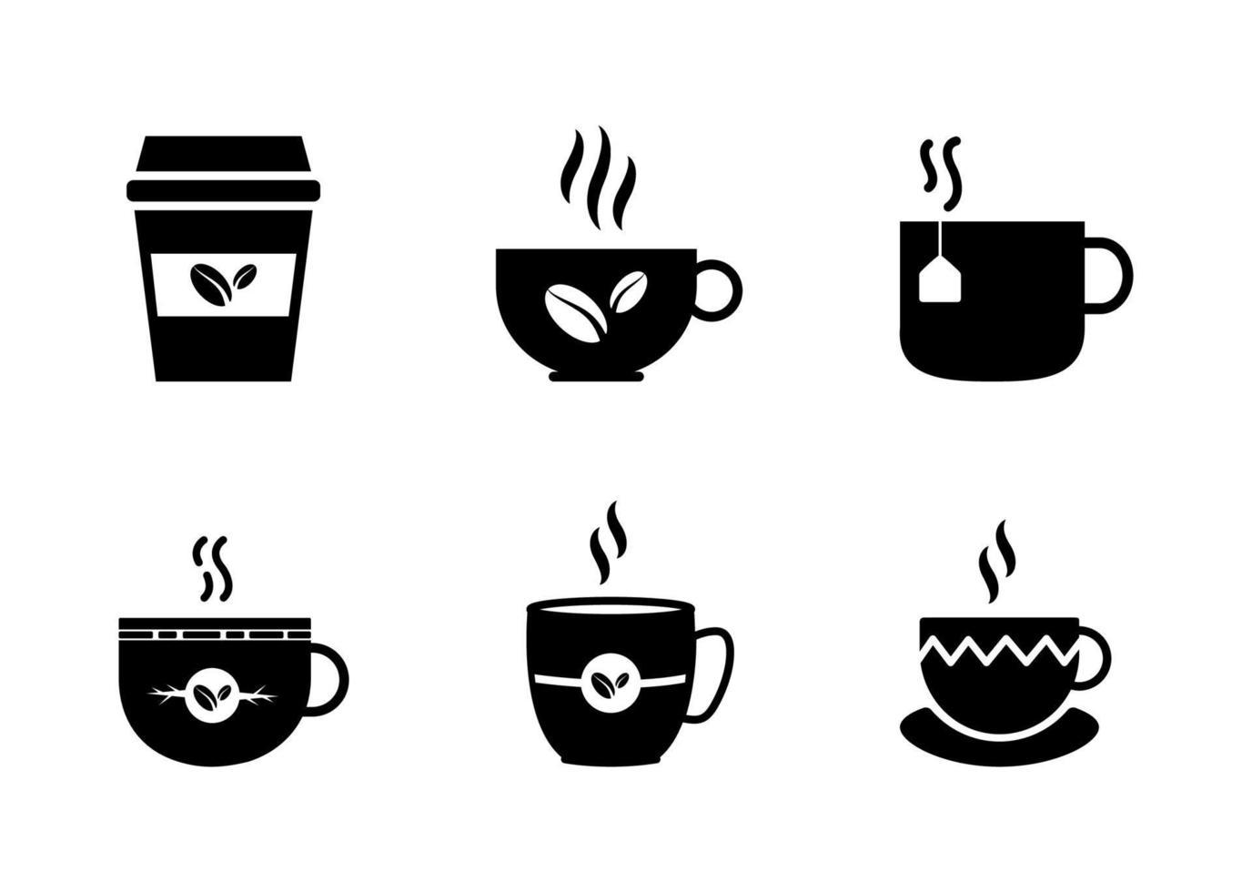 conjunto de ícones de xícara de café - ilustração vetorial. vetor