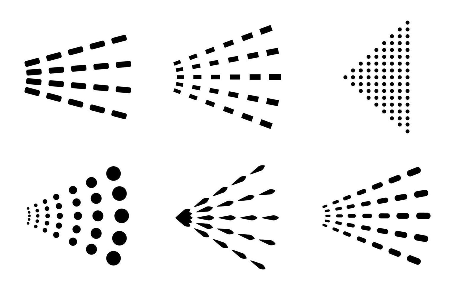 spray icon set - ilustração vetorial. vetor