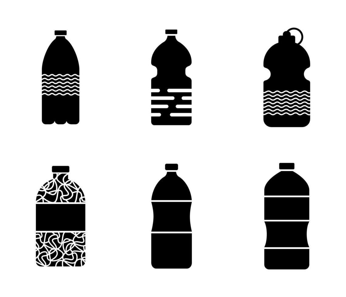 conjunto de garrafa de água - ilustração vetorial. vetor