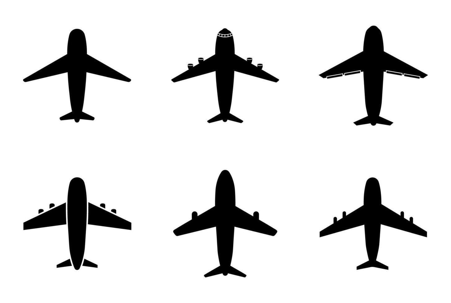 conjunto de ícones de avião - ilustração vetorial. vetor