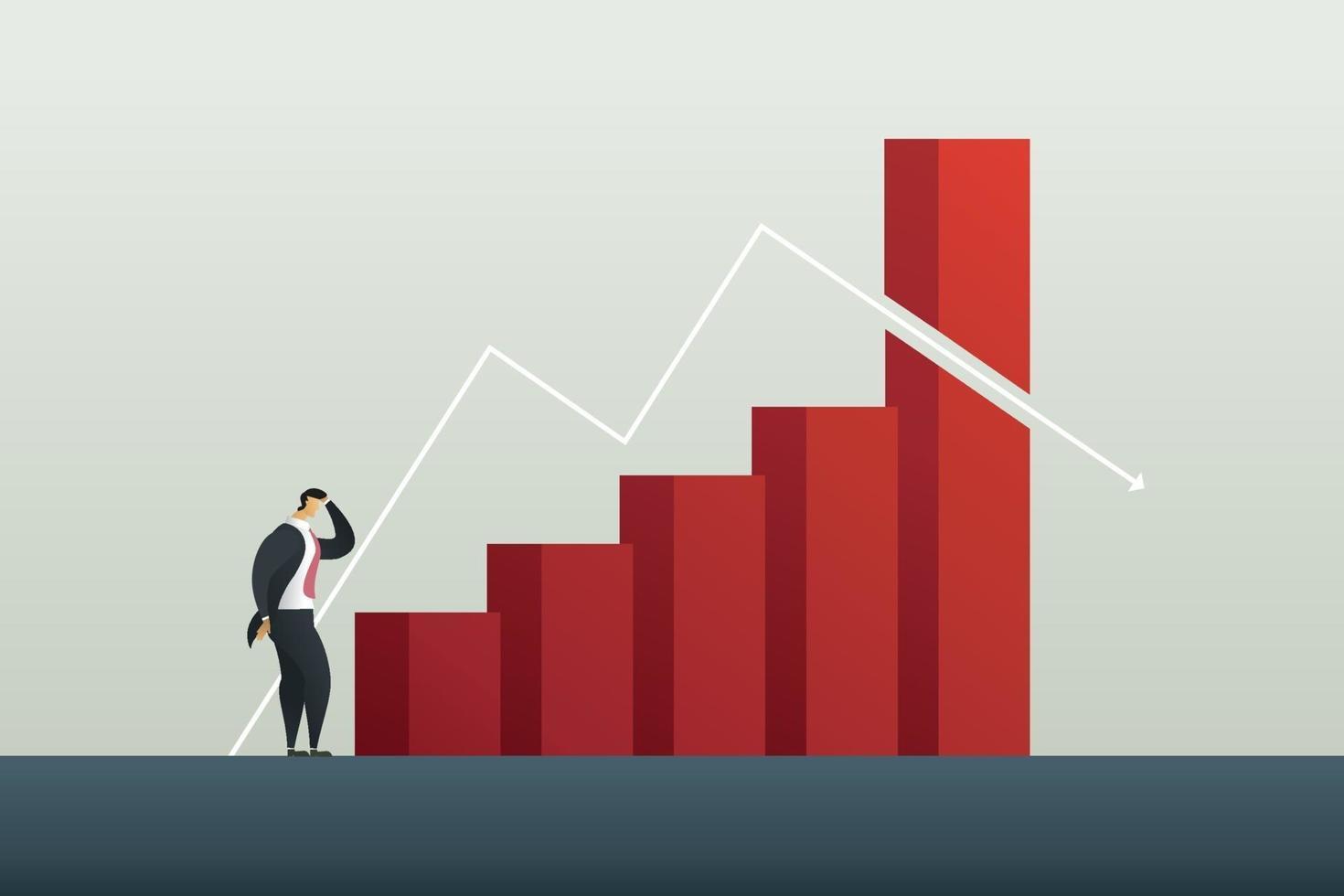 perda de lucros e crises de empresário vetor