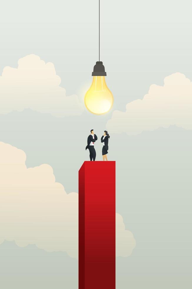 empresários e empresárias brainstorming de ideias criativas vetor