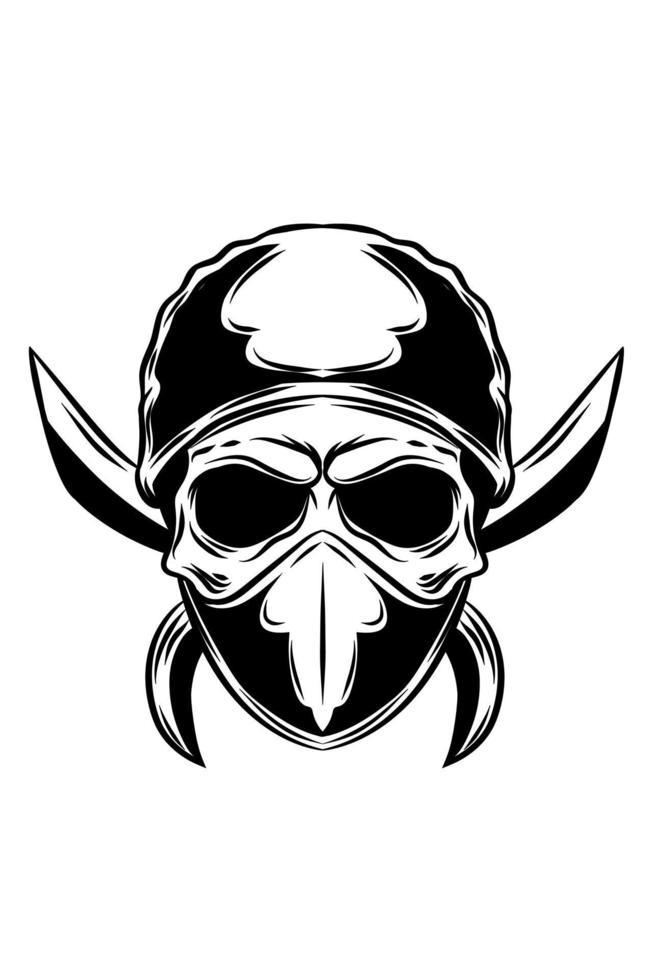 ilustração vetorial de crânio de bandidos vetor