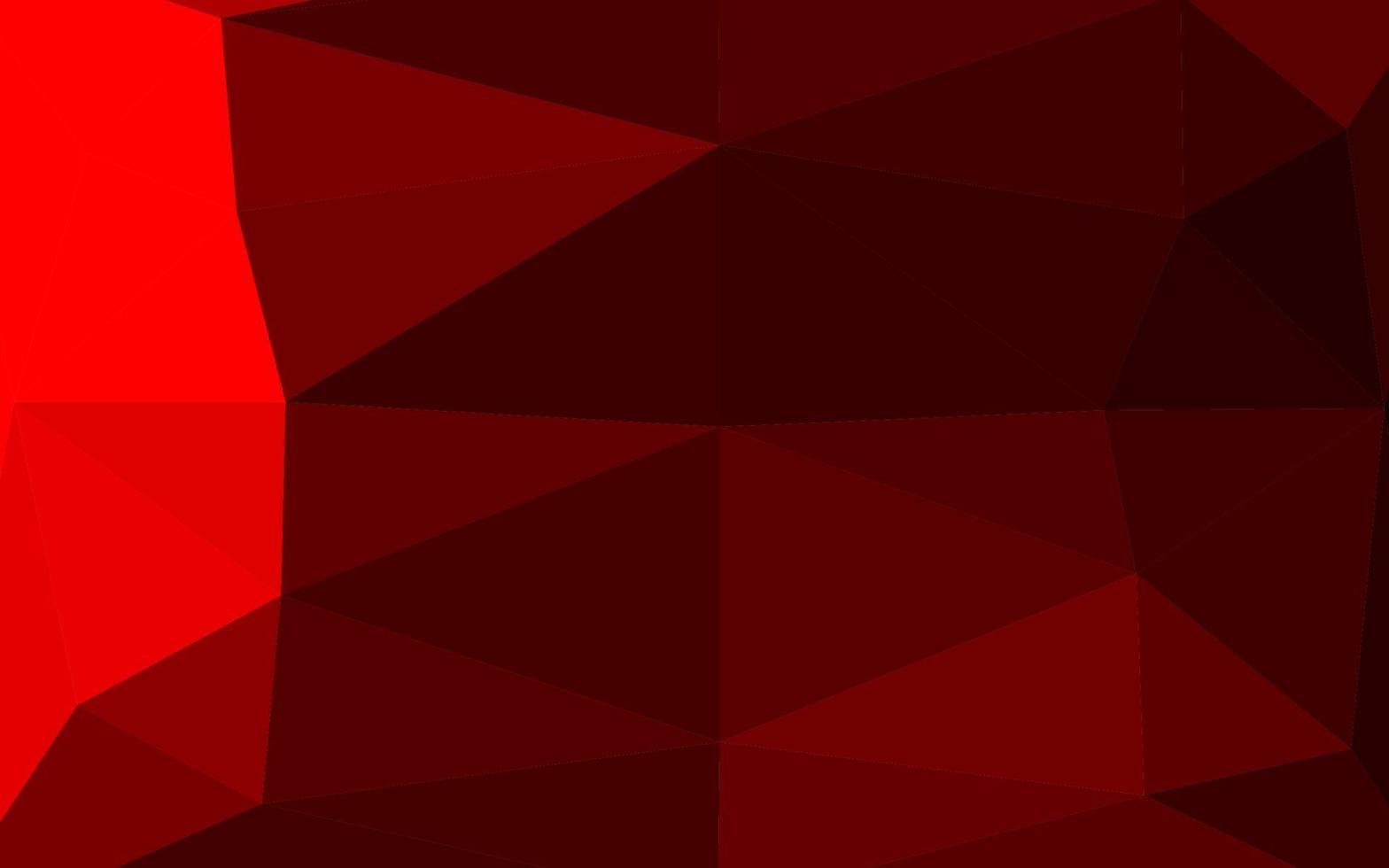 luz vermelha vector brilhante padrão triangular.