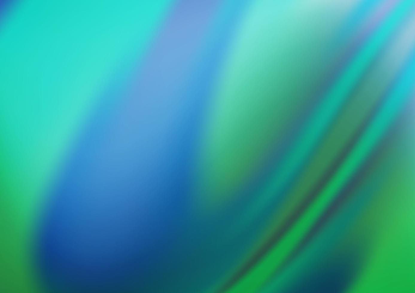 luz azul, verde vetor turva padrão brilhante.