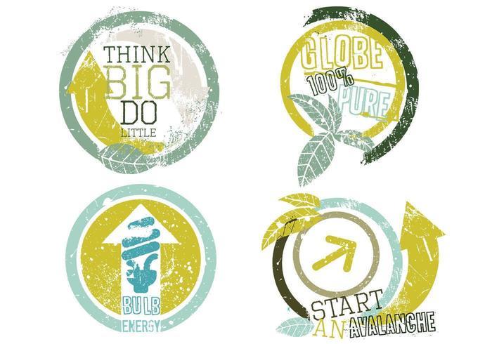 Pacote de ícones do ícone do eco vetor