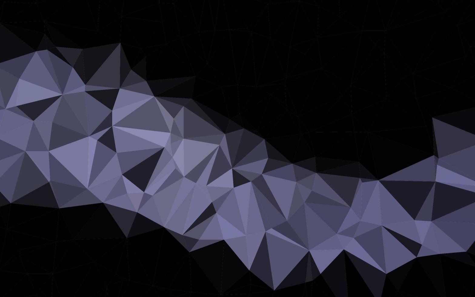 vetor preto escuro brilhando modelo triangular.
